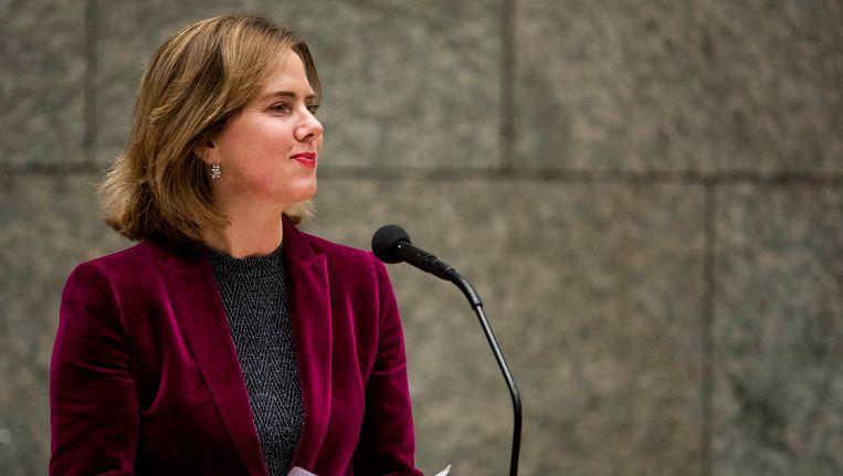 Cora van Nieuwenhuizen tijdens de begroting Infrastructuur en Waterstaat Beeld Freek van den Bergh / de Volkskrant
