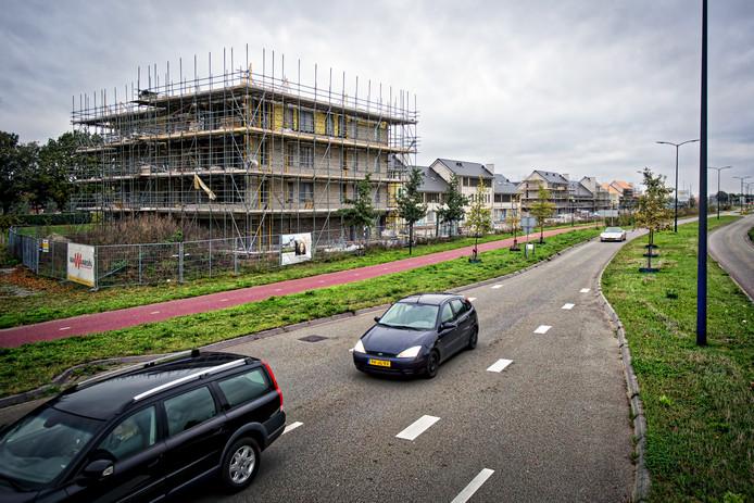 Foto uit 2017, de bouw van locatie de Kreek in nieuwe woonwijk De Contreie