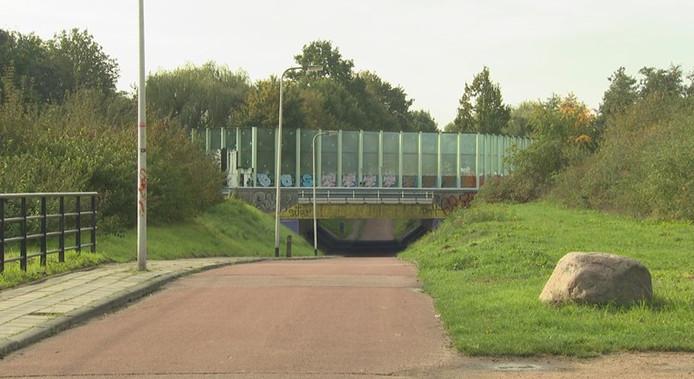 Fietstunneltje bij de Belgiëlaan in Enschede