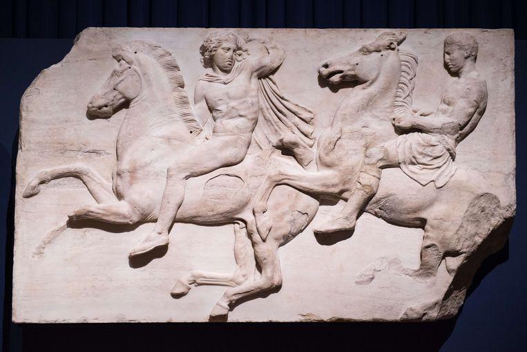 Parthenon-friezen uit Athene in het British Museum. Griekenland wil deze ook al decennia terug. Beeld AFP