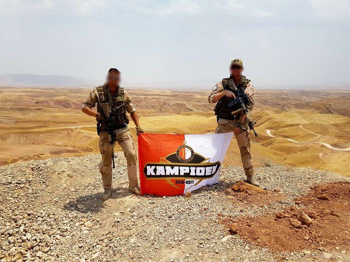 Feyenoord is overal, zelfs in de woestijn van Irak, schrijft Jaco.
