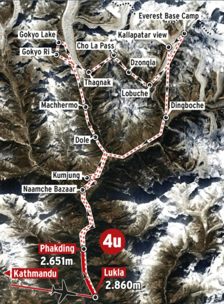 Het parcours voor 27 oktober.