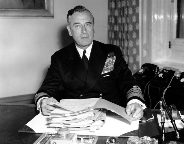 Lord Louis Mountbatten in 1955.