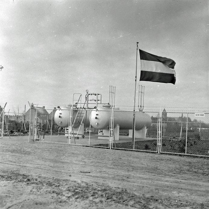 Gemeentelijk propaangasbedrijf van Reusel in 1956