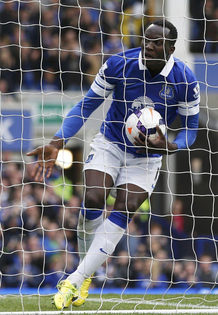 Romelu Lukaku scoorde vlot bij Everton.