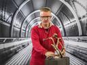 Ronald Westerhuis in zijn RAWSpace in 2017. Hij geeft Daniel Libeskind de vrije hand om een nieuw atelier te ontwerpen.