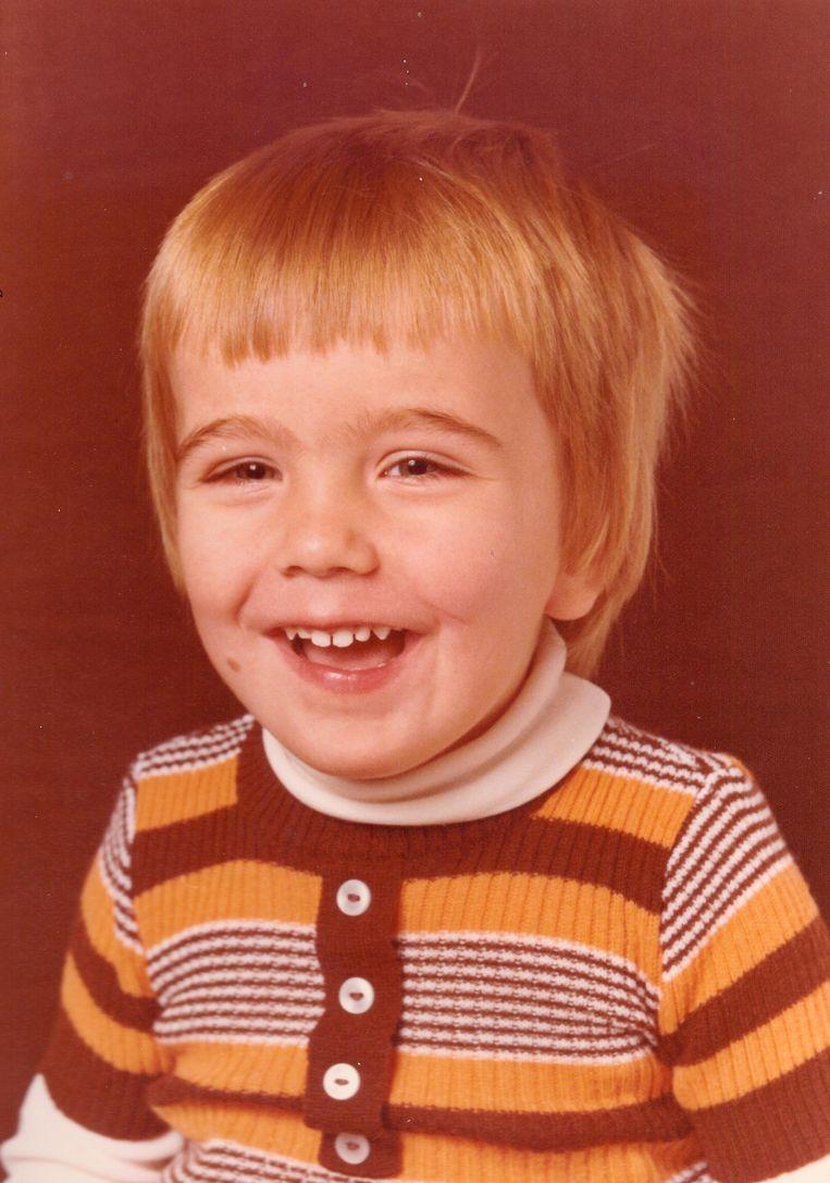 Marcel Vonk als kind. Beeld