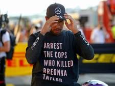 Hamilton opgelucht na zege: 'Het leken wel drie races op één dag'