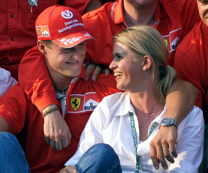 Michael Schumacher met zijn vrouw Corinna.