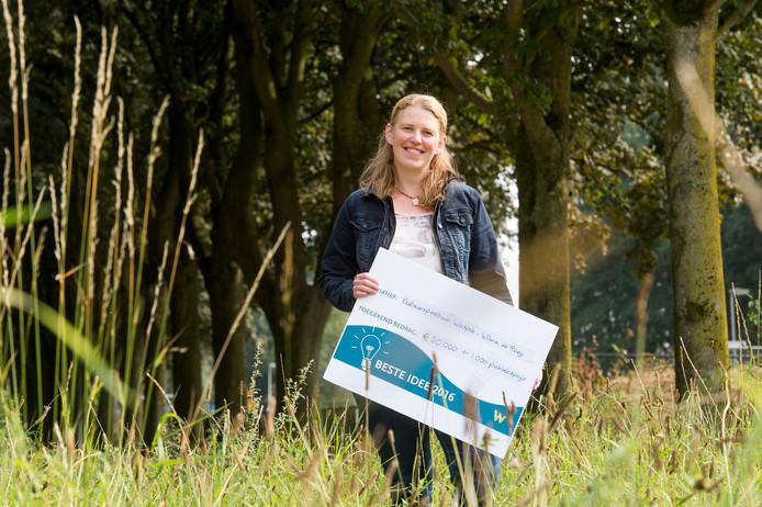 Wilma van Rooij is de winnares van Het Beste Idee van Waalwijk.