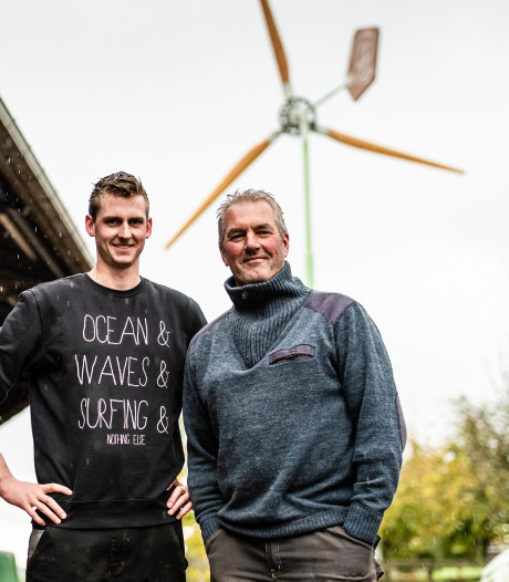 John en Jeroen gaan stroom opwekken met hun eigen windturbine
