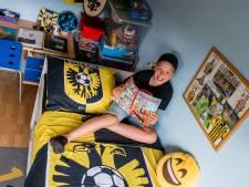 Bram (11) uit Ede heeft kamer vol Vitesse-spullen: 'Ik ben groot fan'