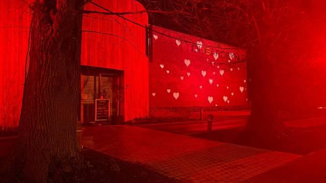 Slagerij Dugardeyn brengt Valentijnsfeer met lichtshow