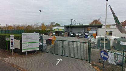 Recyclagepark dicht door werken