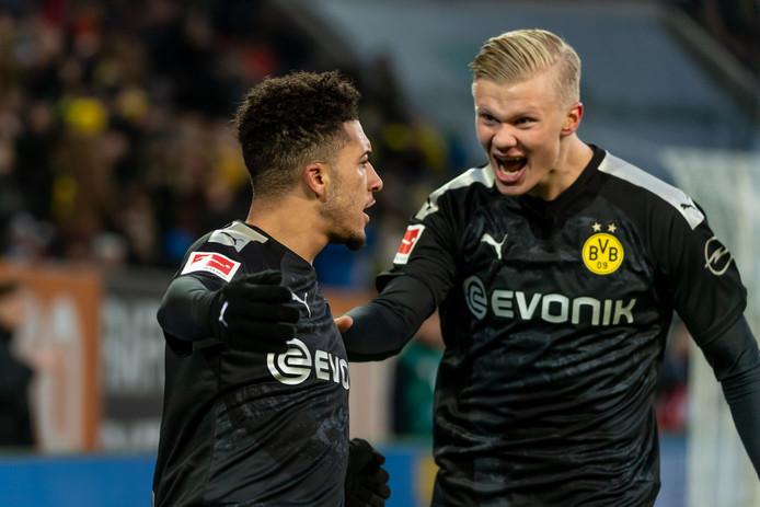 Erling Braut Haaland maakte drie treffers in zijn eerste officiële wedstrijd voor Dortmund.