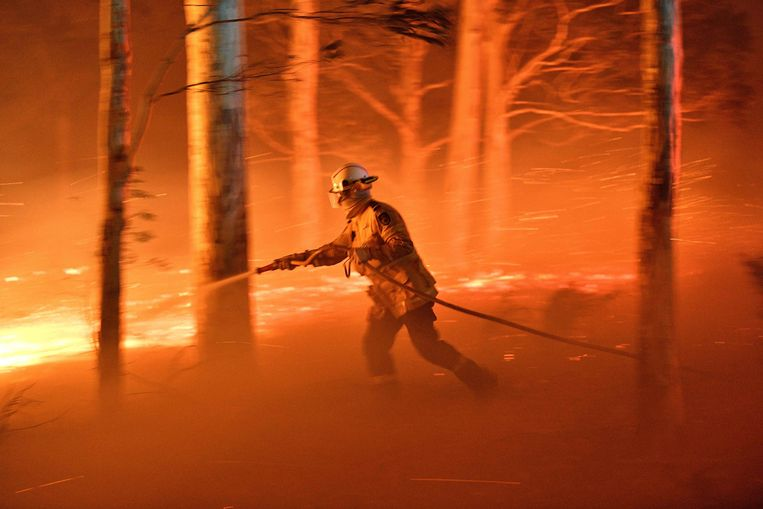 Brandweerman in New South Wales, december 2019. Beeld AFP