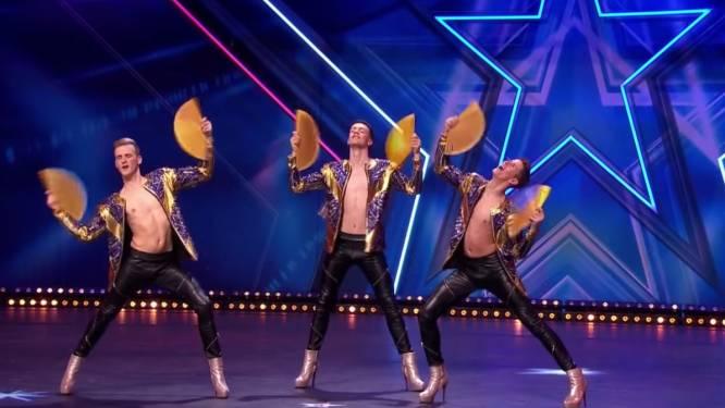 VIDEO. Deze Belgische mannen op hoge hakken gaan naar de halve finale van 'Holland's Got Talent'