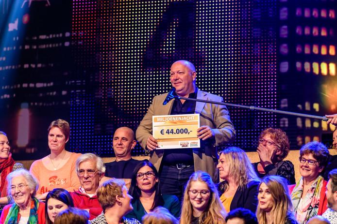 Geluksvogel Werner Spierings in het publiek van Miljoenenjacht