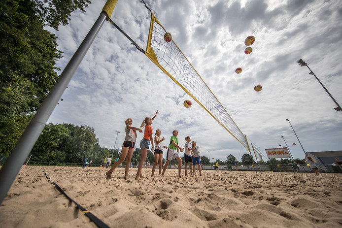 Beachsoccer- en Beachvolleybalveld op Sportpark Marslanden. Archieffoto