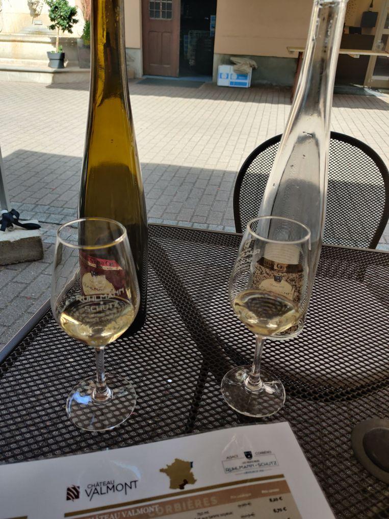 Wijnproeven in de Elzas. Beeld Jeroen van Bergeijk