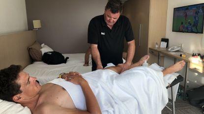 Greg volgt vanop de massagetafel