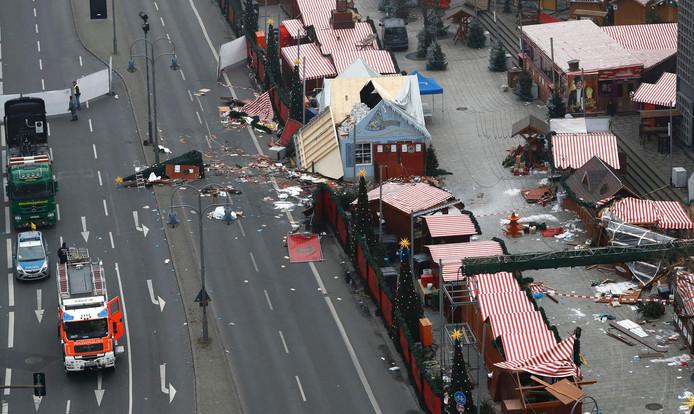 De rampplek van bovenaf gezien.