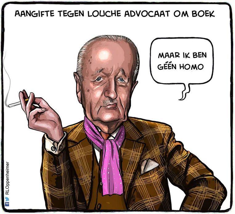 De cartoon waar de rechtszaak om draait Beeld Ruben L. Oppenheimer