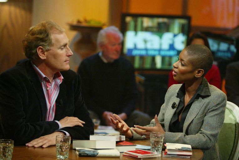 RTL-boekenprogramma Kaft, met schrijver Arthur Japin (2004). Beeld Kippa