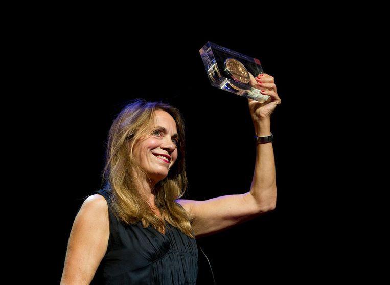 Marlies Heuer wint de Theo d'Or, 2012 Beeld anp