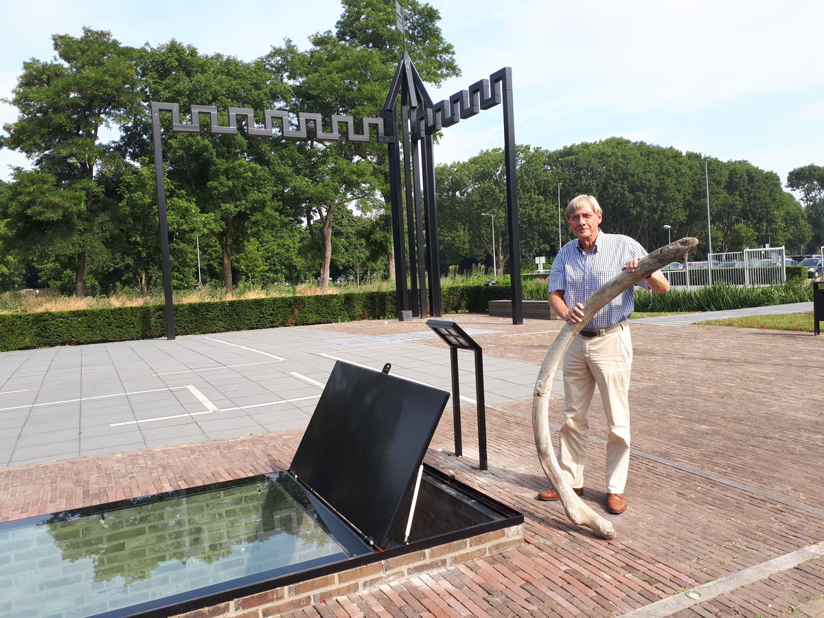 Jan Jongeneel van stichting Kasteel Develstein in Zwijndrecht met het walvisbot