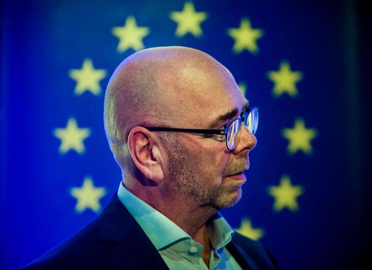 Het `levende stemkastje` Jan Dijkgraaf. Beeld Freek van den Bergh