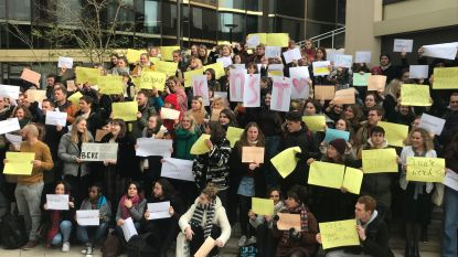 Studenten sociaal werk en orthopedagogie protesteren tegen besparingen in zorgsector
