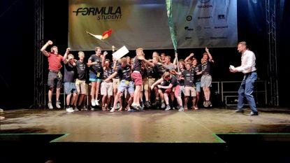 Studenten winnen goud met ontwerp elektrische racewagen