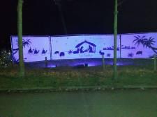 Schijnwerper kerstdoek Vierhouten gejat: 'de eerste de beste nacht was het al raak'