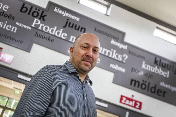 Arian Compen uit Soerendonk maakt zich hard voor het behoud van het Zurriks dialect. foto tom valstar