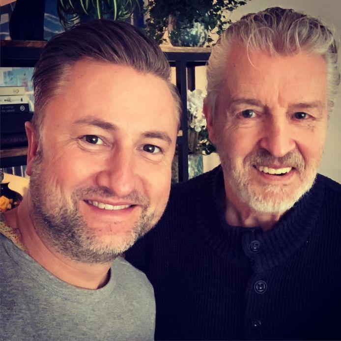 Wim met zoon Dennis Weening
