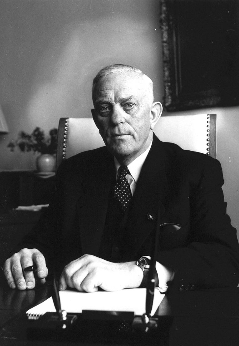 Albert Plesman, eerste directeur van KLM, overlijdt op 31 december 1953. Beeld ANP