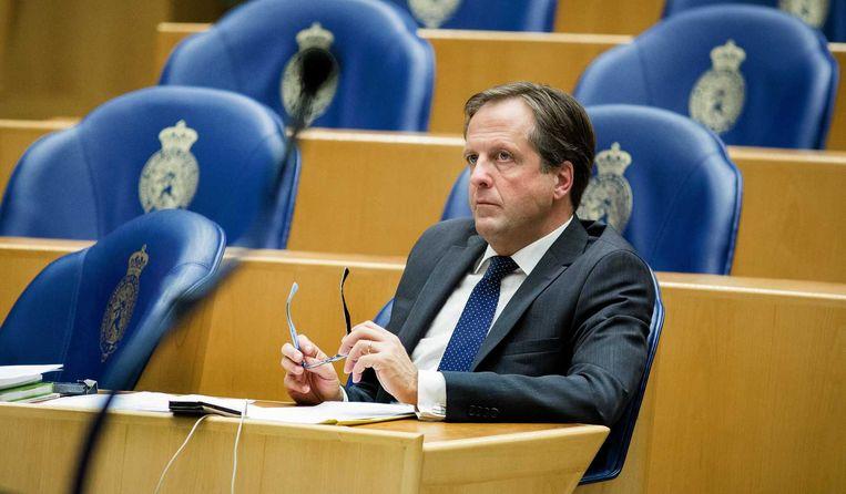 D66-leider Alexander Pechtold noemt de evaluatie 'een opsteker'. Beeld anp