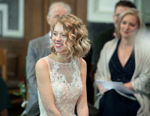 Maartje Van Neygen op haar huwelijk.