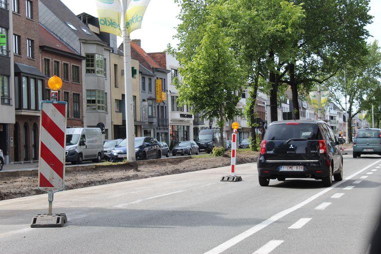 De werken in de Molenstraat zijn volop bezig.