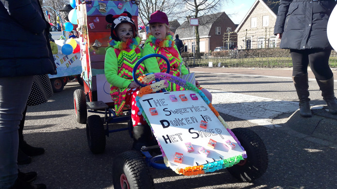 De Sweeties, een van de jongste én nieuwe deelnemers aan de Haorendamse optocht.