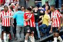 De boarding begeeft het na de gelijkmaker van PSV.