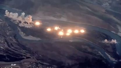 Amerikaanse luchtmacht verspreidt hallucinante beelden van hoe ze IS-schuilplaats volledig van de kaart veegt met bijna 40 ton bommen