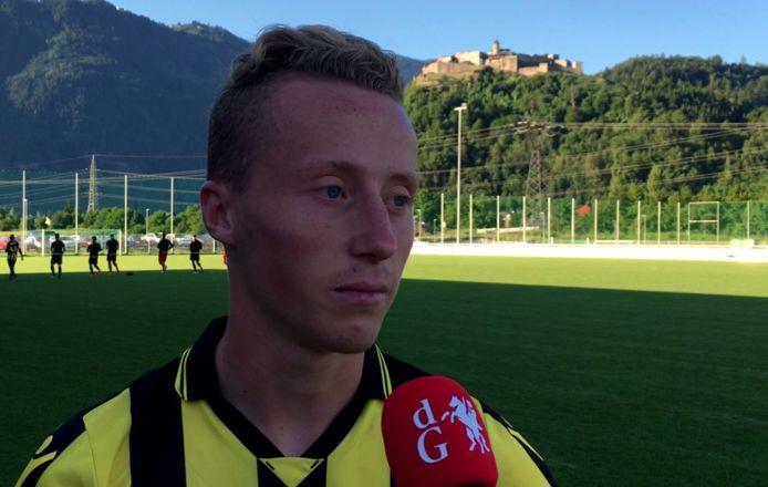 Lars ten Teije, hier nog op pad met de hoofdmacht van Vitesse.