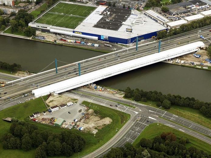 De Galecopperbrug tijdens de werkzaamheden in 2014