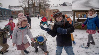 Winterpret kan beginnen: jeugd leeft zich uit in eerste sneeuw