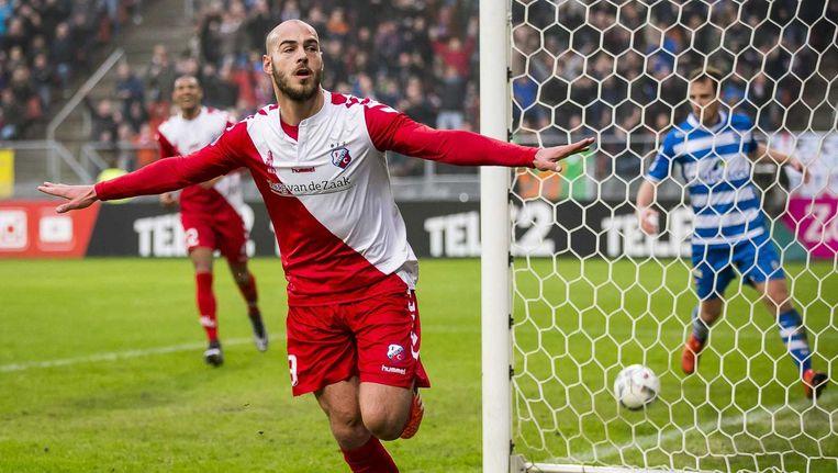Invaller Ruud Boymans van FC Utrecht heeft de 1-0 gescoord. Beeld anp