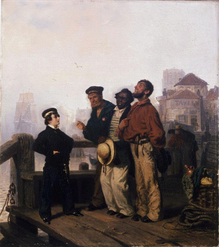 Henry Ritter - Middy's Predigt (1853) Beeld Collectie Wallraf Richartz Museu