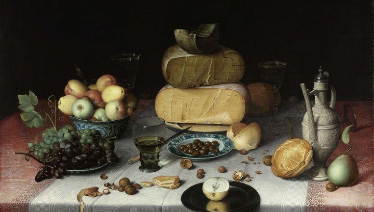 Stilleven met kazen, Floris Claesz. van Dijck, ca. 1615. Beeld Rijksmuseum