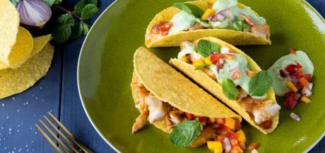 Wat Eten We Vandaag: Vistaco's met mangosalsa en avocado-yoghurtsaus